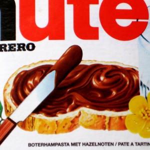Nutella etiket boterhampasta met hazelnoten
