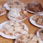 Glutenvrij brood proefstukjes