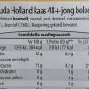 Ingredientenlijst van Goudse jong belegen kaas